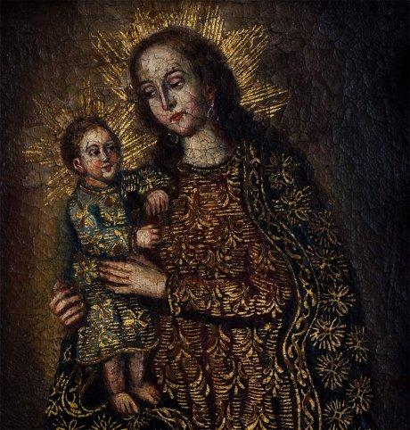 Escuela Cuzqueña, La Virgen y el Niño