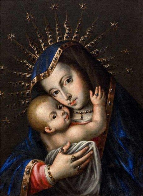 Escuela novohispana, La Virgen y el Niño