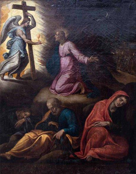 Escuela novohispana (siglo XVII- XVIIl), La agonía de Getsemaní