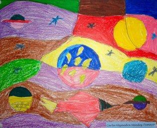 Taller de Creación Infantil Las formas de planetas y astros en el arte. Abstracción Concreta