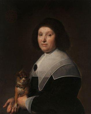 Johannes Cornelisz Verspronck, Mujer con perro, 1647