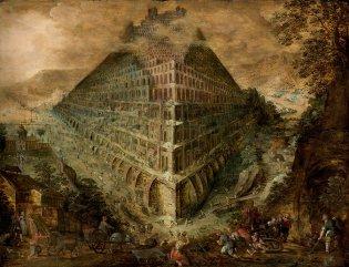 Escuela de de Marten van Valckenborgh, Torre de Babel, -1