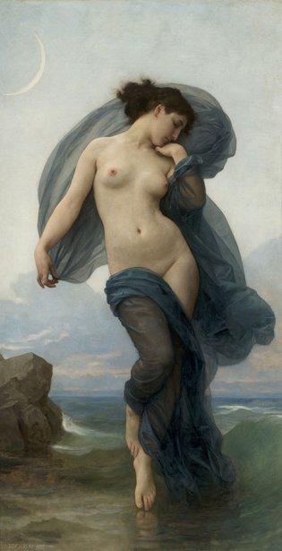 Wiliam Adolphe Bouguereau, Atardecer, 1882