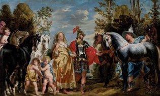Jacob Jordaens, Marte y Mercurio conduciendo los caballos a Venus, 1645