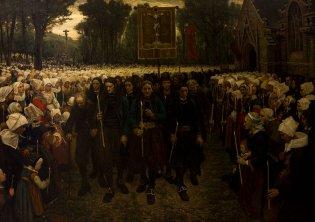 Jules Breton, Procesión del Perdón en Bretaña, 1869