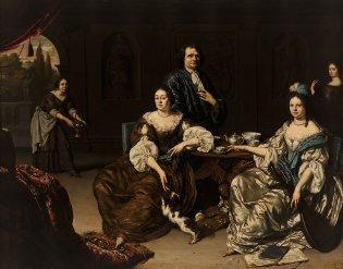 Willem van Mieris, Reunión familiar, -1