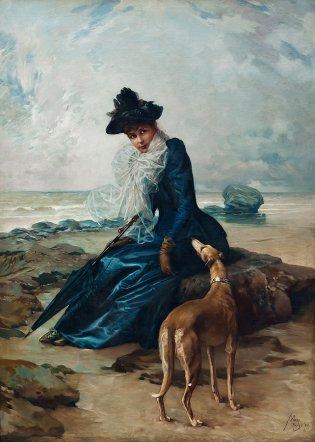 Guillermo Collazo, Dama sentada a orillas del mar