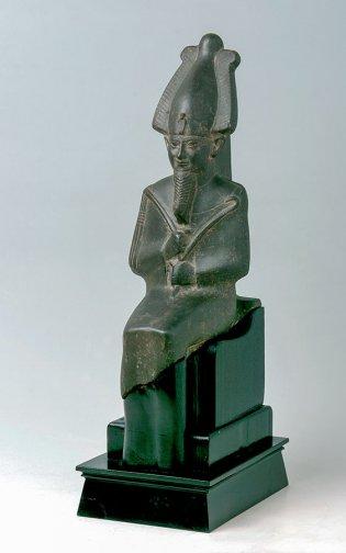 Anónimo, Estatua de Osiris dedicada por Nespakachutí. Saíta. Dinastía XXVI, 664