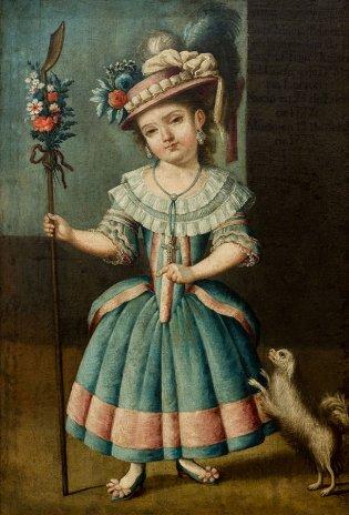 Anonimo del Virreinato de Nueva España, Retrato de Francisca Xaviera de Paula