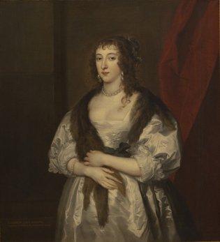 Anton Van Dyck, Retrato de Elizabeth Dormer, Lady Herbert de Raglan., 1635