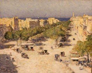 Childe Hassam, Vista del Paseo del Prado, -1