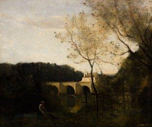 Camille Corot, El viejo puente de Nantes, 1855