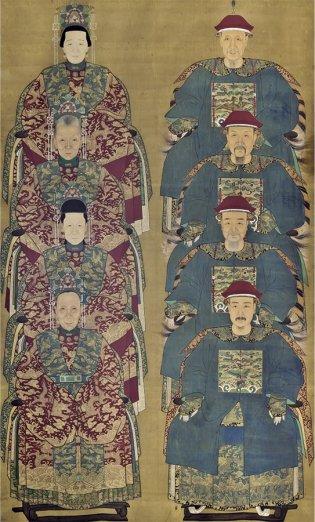 Academia Imperial, Pintura de los muertos. Funcionarios de la dinastía Qing
