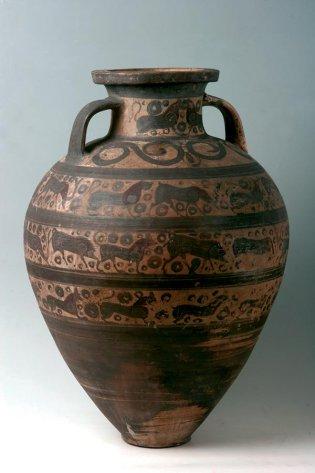Anónimo, Anfora de cuello etrusca. Estilo orientalizante, -1