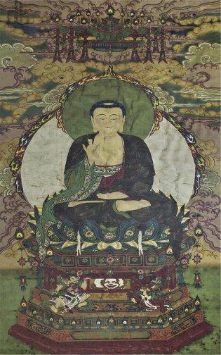 Anónimo, Buda sobre pedestal