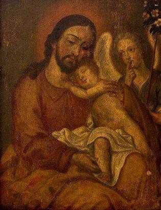 Anónimo, San José y niño