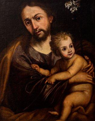 Escuela novohispana, San José y el Niño