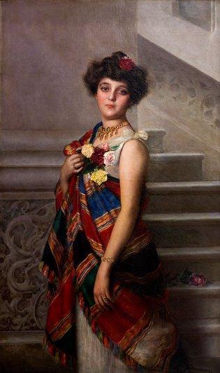 Armando García Menocal, Retrato de Helena Herrera de Gumá, 1904