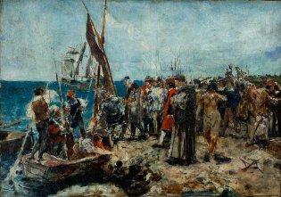 Armando García Menocal, Embarque de Colón por Bobadilla, (boceto)