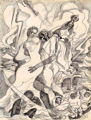 Carlos Enríquez, Boceo para Virgen del Cobre, 1933