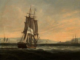 Nicholas Pocock (Bristol, Fragata dirigiéndose a La Habana, 1762