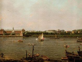 Canaletto. Giovanni Antonio Canal (Venecia, El colegio de Chelsea, la Rotonda, la casa Ranelagh y el río Támesis, 1751