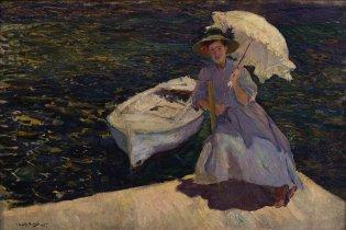 Anónimo, María en el puerto de Jávea, 1905