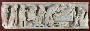 Anónimo, Fragmento de sarcófago im bossiert, -1