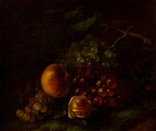George Henry Hall, Naturaleza muerta con frutas, -1