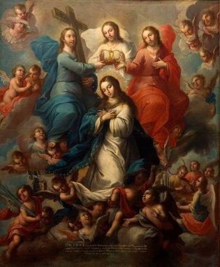 Joseph Paez (Ciudad México, La Coronación de la Virgen, 1770