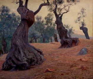 Domingo Ramos, Paisaje con troncos, -1