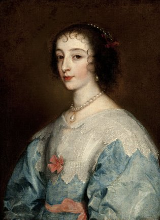 Taller de Anton Van Dyck, La reina Enriqueta María