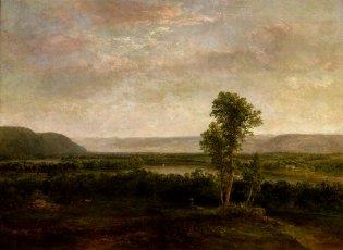 Thomas Doughty, Paisaje con un lago y montañas, -1