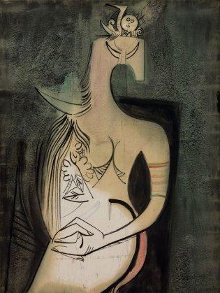 Wifredo Lam, Mujer sentada, 1949