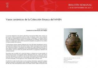 Vasos cerámicos de la Colección Etrusca del MNBA