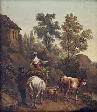"""Comentario de obra """"Paisaje con pareja de aldeanos y ganado"""""""