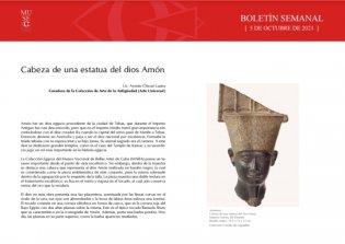 Cabeza de una estatua del dios Amón