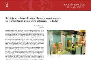 Sincretismo religioso. Egipto y el mundo grecorromano. Su representación dentro de la colección. (1ra parte)